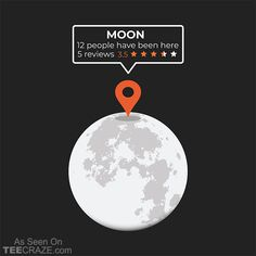 Moon Location T-Shirt From Toxic Onion. #TeeCraze #Funny #Space #Astronaut #Moon #NASA #tshirt