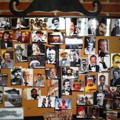 Moustache wall of fame