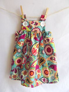 Morning by Morning Productions: Button Baby Dress Tutorial--so cute would be a great jumper made out of corduroy or denim or a print even. Free tutorial. Fabulous illustrations.