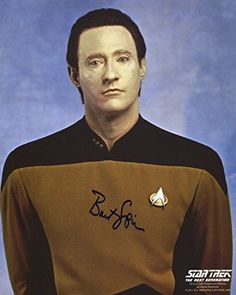 Brent Spiner Signed / Autographed 8x10 Glossy Star Trek Photo As Data. Includes Fanexpo Fanexpo Cert @ niftywarehouse.com #NiftyWarehouse #StarTrek #Trekkie #Geek #Nerd #Products