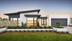 Képtalálat a következ?re: single story house facades australia Contemporary House Plans, Modern House Plans, Modern House Design, House Roof, Facade House, Facade Design, Exterior Design, Home Roof Design, Flat Roof House Designs