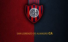 Download wallpapers San Lorenzo de Almagro, 4k, logo, Buenos Aires, Argentina, leather texture, football, Argentinian football club, San Lorenzo FC, emblem, Superliga, Argentina Football Championships, First Division