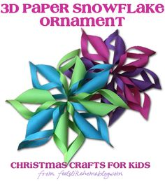 Gorgeous 3D Paper Snowflakes – These are just folding, measuring, cutting, and gluing. They're so quick and easy that even kids can make them.