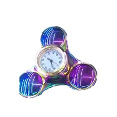 Tri-Spinner Colorful Clock Shape Rotating Fidget Hand Spinner ADHD Autism Reduce Stress Toys