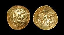 Celtic Iron Age Coins - Corieltauvi - North Lincolnshire - Lindsey Scyphate Gold Quarter Stater
