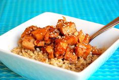 Slow Cooker Honey Sesame Chicken (kid-tested and approved!)