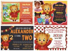Daniel Tiger Birthday Party Invitations