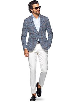 Jacket Blue Check Havana C965 | Suitsupply Online Store