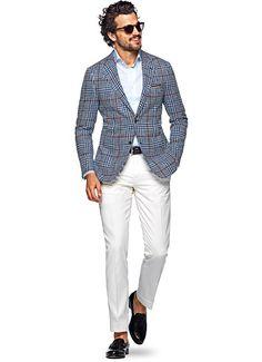 Jacket Blue Check Havana C965 | Suitsupply Online Store