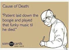 Funky music is dangerous.