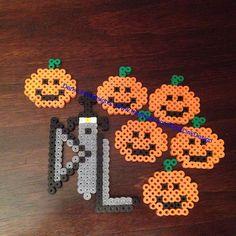 Pumpkins Hallowwen perler beads by darklinkdesigns