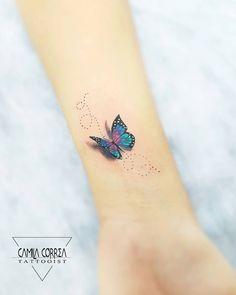 Butterfly tattoo: 200 tattoo ideas - ankle tattoo designs - but . - Butterfly Tattoo: 200 Tattoo Ideas – Ankle Tattoo Designs – But … – Butterfly Tattoo: 200 T - Finger Tattoos, Wrist Tattoos, Mini Tattoos, Body Art Tattoos, Small Tattoos, 3d Tattoos, Ankle Tattoo Designs, Ankle Tattoo Small, Small Tattoo Designs