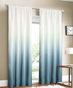 Filtering out unwanted sunlight and adding privacy to your living area or bedroom, this rod-pocket curtain instantly refreshes the space with an elegant ombré print.