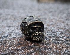 Biker skull lanyard beads Paracord lanyard beads of от GATURA
