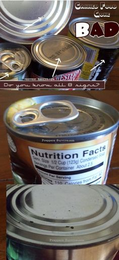 8 Signs Your Canned Food Has Gone Bad. #foodstorage