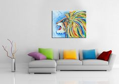 textured, Iron Lion Zion, abstract lion, colorful, rasta, jamaica, modern,poster, home decor, bob marley, reggae, african, warrior, tribal