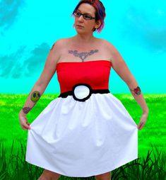Pokemon inspired costume Cosplay Pokeball party by thegeekgarden, $55.00