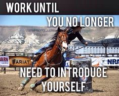 Work until you no longer need to introduce yourself