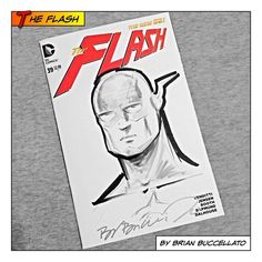 Saturday was a busy day! That evening I went down to Big Red Comics in Orange and got this sketch of the Flash from Brian Buccellato! We also had a viewing of his short film Sons of the Devil, which felt like the intro to a much larger story! Can't wait to crack open the comic!  #thebooch #brianbuccellato #theflash #dccomics #comics #comicbooks #collect #collecting #collection #signed #signature #sketch #sketchblank #sketchcover #blankcover #blank #theflash #sonsofthedevil #bigredcomicsoc