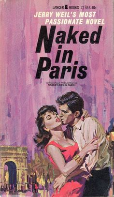 NAKED IN PARIS #pulp #fiction #cover #art