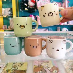 Time for a tiny coffee break with Sumikko Gurashi! These mini mugs are so cute! Choose between Green Penguin Cream Neko Blue Dino Brown Tonkatsu or White Shiro Kuma. Available in store & online at JapanLA.com $8 each. #JapanLA #sumikkogurashi by japanla