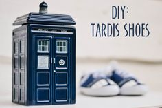 Paint your own tardis shoes.  I think I could even do this!  Haha looks pretty easy