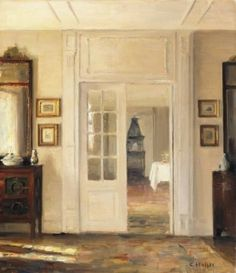Interior - Carl Vilhelm Holsøe - (Danish: 1863-1935)