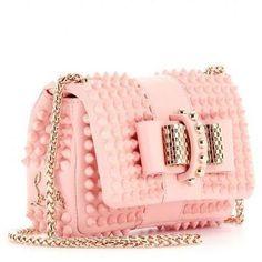 "Louboutin. ""Sweet Charity"" Pink handbag."