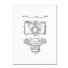 Trademark Fine Art Photographic Camera Patent 1962 White by Claire Doherty, 35x47-Inch Trademark Fine Art http://www.amazon.com/dp/B016BPQE9S/ref=cm_sw_r_pi_dp_oPsjwb16X66HK