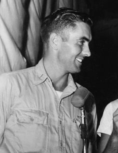 Tyrone Power, 1943, while serving as a Marine Corps pilot during World War II
