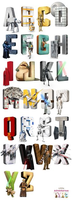 Star Wars Alphabet / Star Wars Print / Alphabet Print / A-Z Art / Alphabet Letters / Star Wars Art / Star Wars Print / Star Wars Poster / ABC Print / Nursery Art