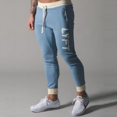 Sports pants men's jogger fitness sports trousers new fashion – Joelinks store Gym Pants, Running Pants, Skinny Pants, Running Clothing, Slim Fit Pants, Mens Sweatpants, Jogger Sweatpants, Sports Trousers, Sport Pants