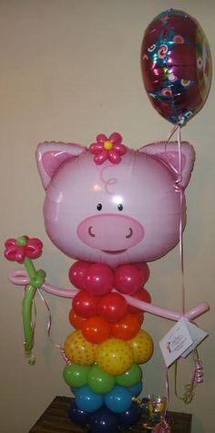 Pig Balloon Character