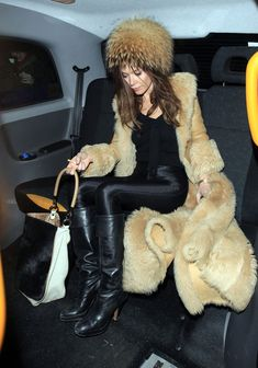 Anna Friel Photos Photos: Anna Friel And Rhys Iffans Leaving The Claridges Hotel Anna Friel, Ski Season, English Actresses, Sexy Boots, Furs, Blazers, Fur Coat, Style Inspiration, Female
