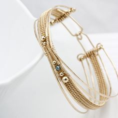 Woven Banded Bracelet | by Sarah-n-Dippity