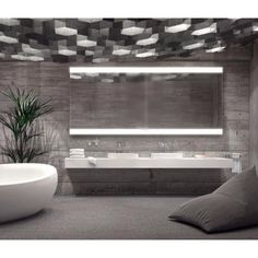 Dimmable Backlit Mirror 80 in x 35 in by Paris Mirror | Its Thyme