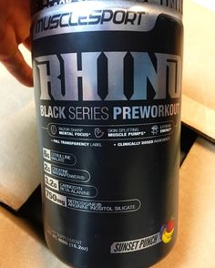 """New flavor from Muscle Sport International just came in! Sunset Punch Rhino Black Series Preworkout is, as the creator himself says, """"Pineapple. Mango, Banana, Orange all in one. I would honestly say it's better than Jungle Juice."""""""