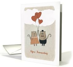 Happy Wedding Anniversary in Dutch, Fijne Trouwdag, Cats card
