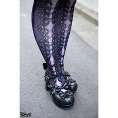 Harajuku Gothic Lolita Fashion w/ h.NAOTO, Abilletage Black Peace Now ❤ liked on Polyvore featuring shoes
