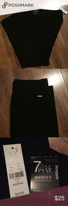 """New York&Co Dress Pants New with tags NY&Co 7th Ave black dress pants sits below the waist stretch boot leg 32"""" inseam New York & Company Pants Boot Cut & Flare"""