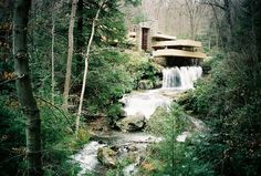 Fallingwater or Kaufmann Residence is a house designed by architect Frank Lloyd Wright in 1935 in rural southwestern Pennsylvania, 50 miles southeast of Pittsburgh