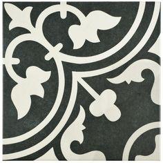 """Found it at AllModern - Artea 9.5"""" x 9.5"""" Porcelain Field Tile in Black"""