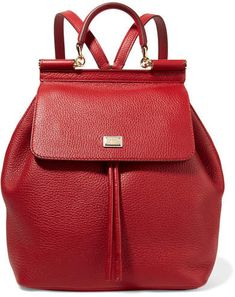 85d95efbe3 Claret textured-leather Magnetic-fastening front flap, drawstring top  Designer color: Rubino Comes with dust bag Weighs approximately Made in  Italy