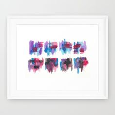 Buy 150321 Boundaries Watercolor Abstract 11 Framed Art Print by ©valourine. Worldwide shipping available at Society6.com. Just one of millions of high quality products available.#homedecor #watercolor #wallart #wallgallery #interiordesign