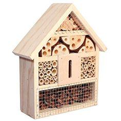 Solitary Bee House, Bug Hotel, Natural Insect Home Mason Bees, Lady Birds, Wasps Bug Hotel, Garden Bugs, Lawn And Garden, Garden Art, Garden Ideas, Backyard Ideas, Dream Garden, Outdoor Ideas, Outdoor Spaces