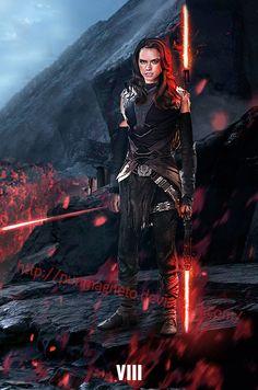 Star Wars:Episode 8 Fanmade - Rey Dark side by punmagneto.deviantart.com on @DeviantArt