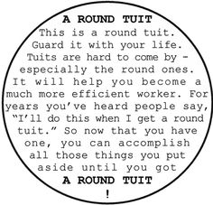 Today I Am Getting A Round Tuit And Doing The Prep Work For
