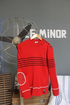 """Pull marin """"Gwalarn"""" by ODIVI - Design Owen Poho Fabrication Le Minor à Guidel #mariniere"""