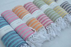 Turkish-t Beach Towel with Stripes | 40% off right now on LoveSurf.com #beach #home #accessories #towels
