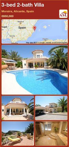 3-bed 2-bath Villa in Moraira, Alicante, Spain ►€850,000 #PropertyForSaleInSpain